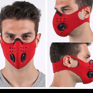 Unisex neoprene facemask face mask with filter